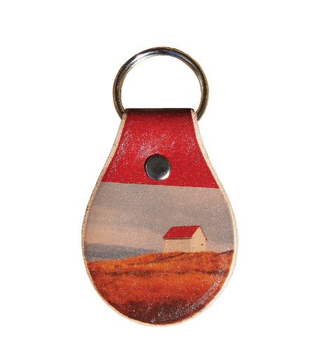 blue dirt girl leather key chain with tattooed Saturna image