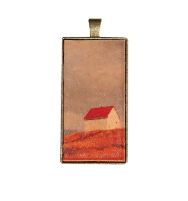 blue dirt girl leather pendant necklace Saturna image