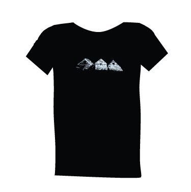 blue dirt girl black t shirt men's 3 sisters image