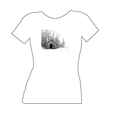 blue dirt girl women's white t shirt with Piggery image