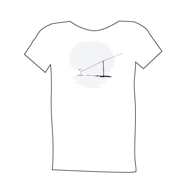 blue dirt girl men's white t shirt with Telephone Pole image