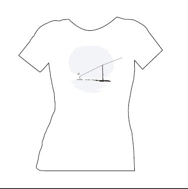blue dirt girl white women's t shirt with Telephone Pole Image