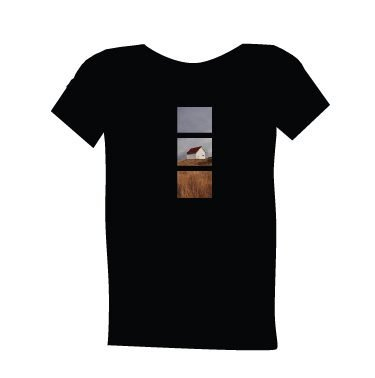 blue dirt girl's men's black t shirt with Saturna image
