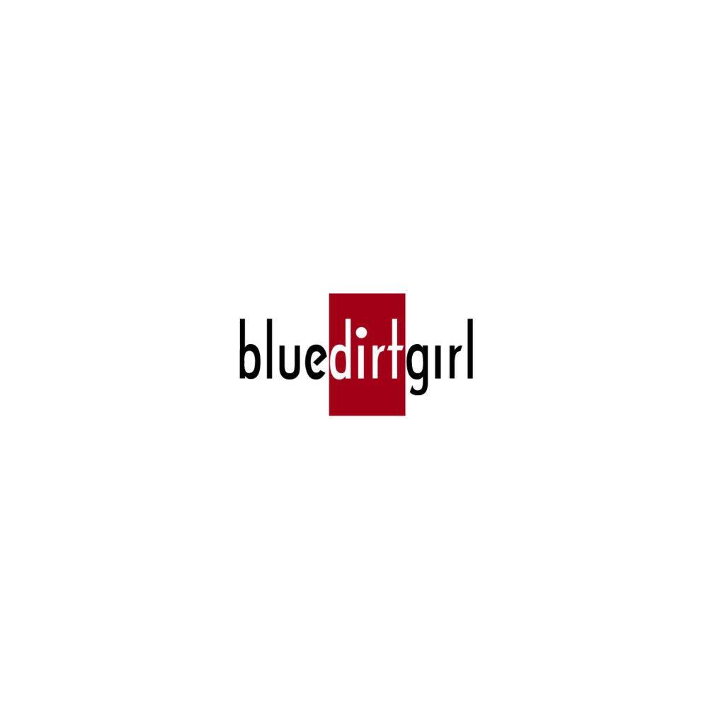 blue dirt girl red logo by greg corrigan