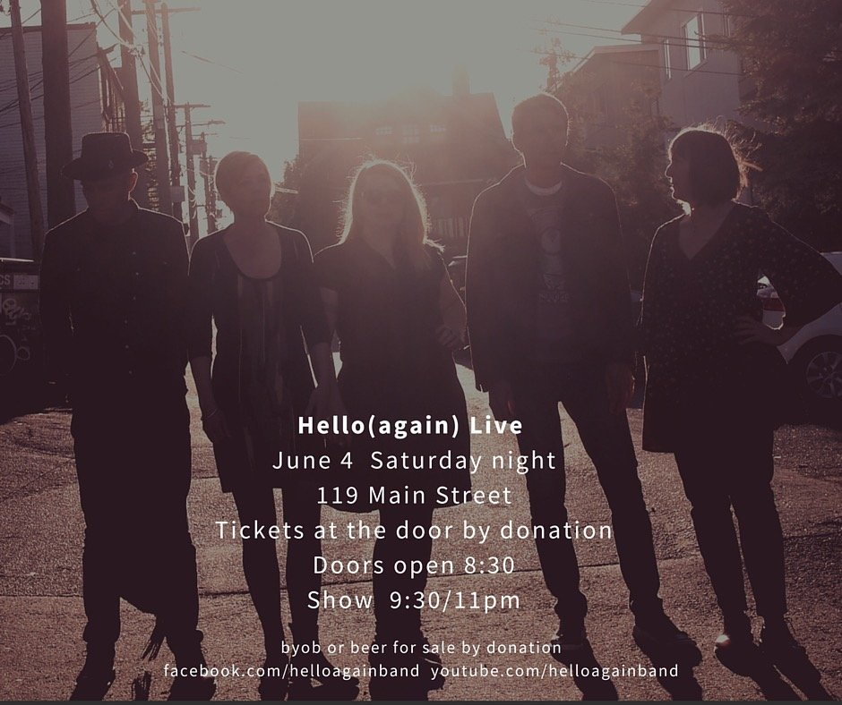Hello(again) band poster june 4/16