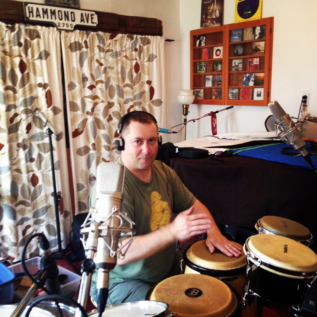blue dirt girl Jason doing overdubs on drums '18