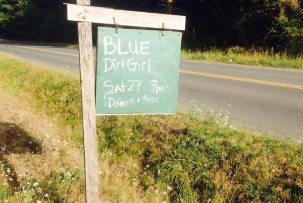 blue dirt girl Denman island post Aug 16