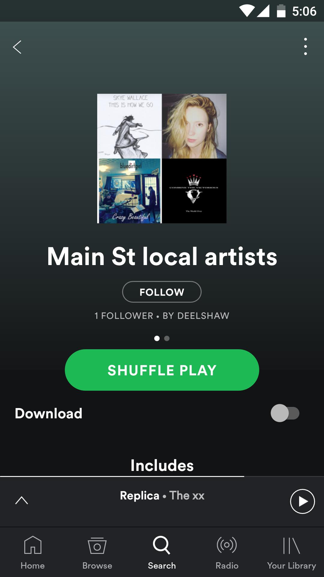 blue dirt girl Danila Spotify playlist '17
