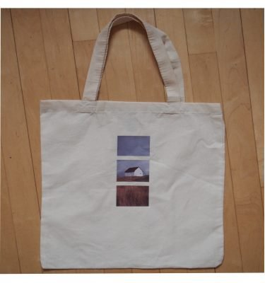 blue dirt girl tote with saturna image