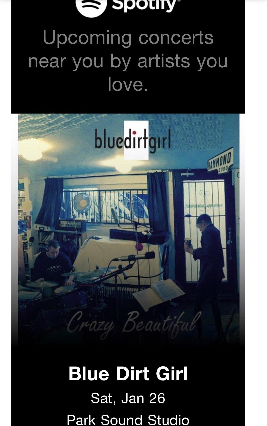 blue dirt girl girl SPOTIFY show email Jan 19