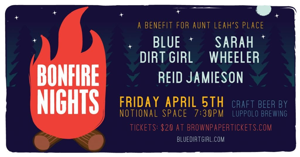 blue dirt girl Bonfire Nights tony lee poster 2019