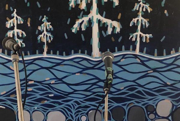 Blue Dirt Girl Thorold Ont Via tour House Concert 2019 Leah Klassen art