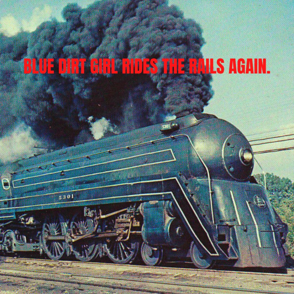 Blue DIrt Girl Via Rail Artist on Board program 2020