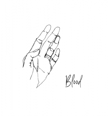 Blue Dirt Girl sketch blood by kiki yee newmusic2021